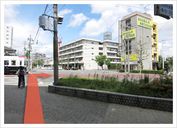 阪急西院駅、西大路四条方面から