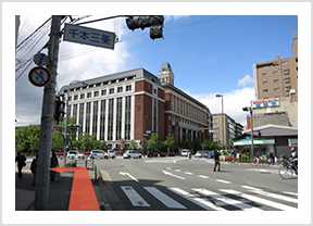 阪急大宮駅、四条大宮方面から