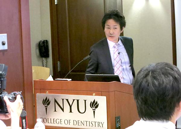 ニューヨーク大学での症例発表の様子